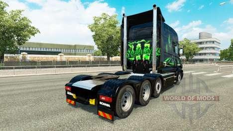 La peau Monster Energy v2 pour camion Scania T pour Euro Truck Simulator 2