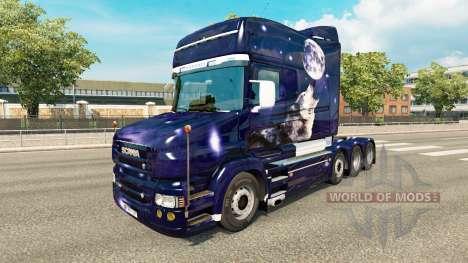 Peau de loup pour camion Scania T pour Euro Truck Simulator 2