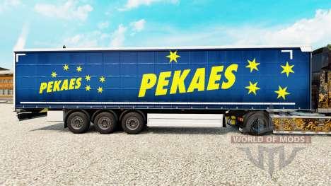 La peau pekaes sa sur un rideau semi-remorque pour Euro Truck Simulator 2