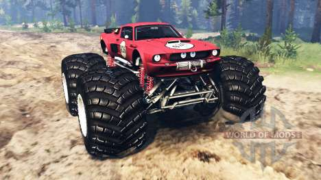 Ford Mustang Shelby GT500 [monster truck] pour Spin Tires