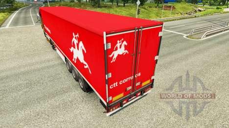 Haut CTT-Correios de Portugal S. A auf Anhänger für Euro Truck Simulator 2