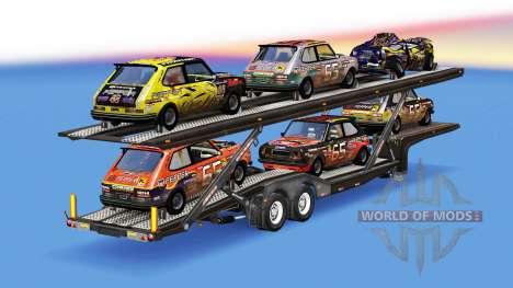 Transporteur de voitures avec des voitures de Fl pour American Truck Simulator