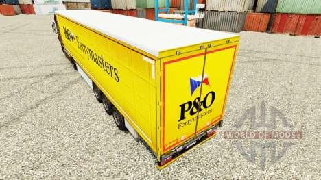 La peau de P&O Ferrymasters pour les remorques pour Euro Truck Simulator 2