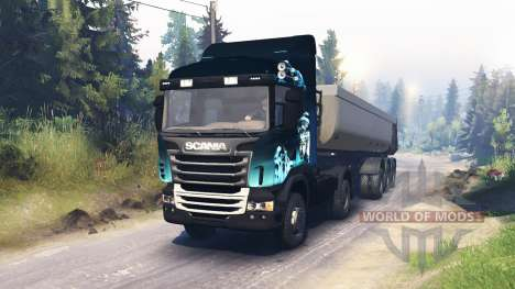 Scania R730 2x2 für Spin Tires