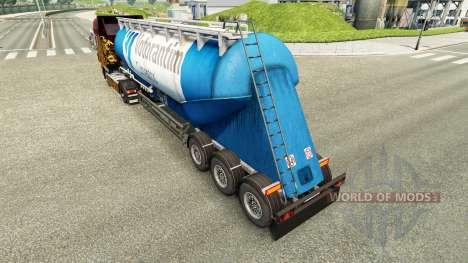 Skin Votorantim cement semi-trailer pour Euro Truck Simulator 2