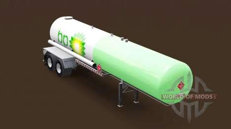 Haut, die BP auf ein gas tank semi-trailer für American Truck Simulator