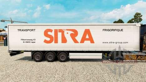 Sitra Haut für Vorhangfassaden semi-trailer für Euro Truck Simulator 2