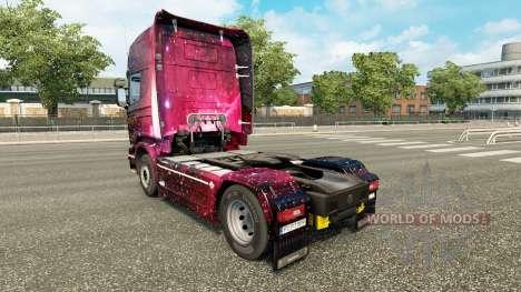 La peau Weltall sur le tracteur Scania pour Euro Truck Simulator 2