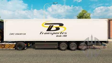 TB Transportes Haut für Anhänger für Euro Truck Simulator 2