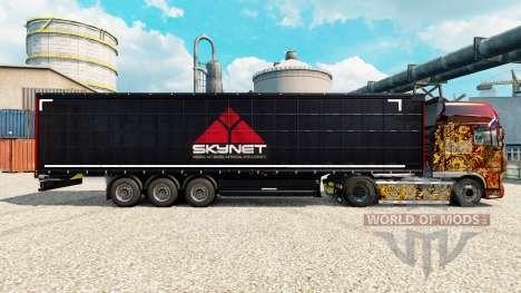 Skynet Haut für Anhänger für Euro Truck Simulator 2