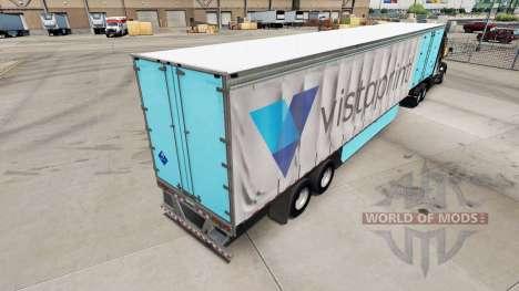Haut Vistaprint auf einem Vorhang semi-trailer für American Truck Simulator