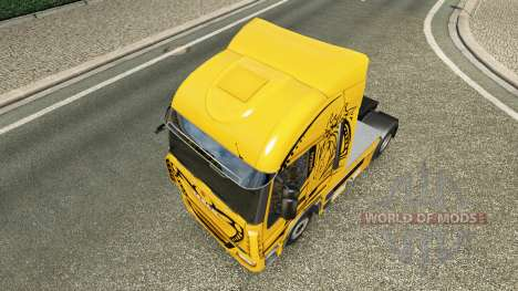 Peau Jaune Diable sur le camion Iveco pour Euro Truck Simulator 2