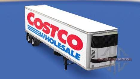 La peau Costco Wholesale sur la remorque pour American Truck Simulator
