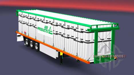La semi-remorque plate-forme avec une charge de  pour Euro Truck Simulator 2