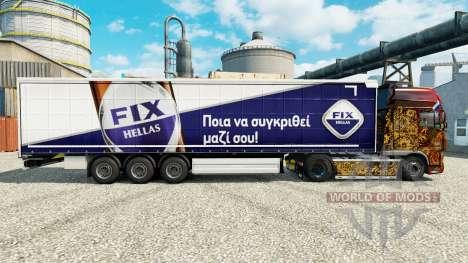 La peau Fixer Hellas sur semi pour Euro Truck Simulator 2