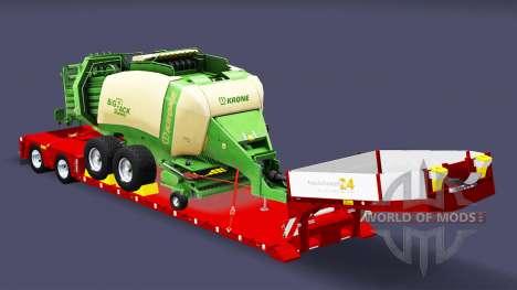 Low sweep mit Ballen Ballenpresse für Euro Truck Simulator 2