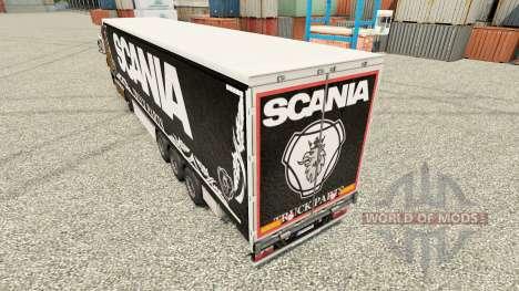 La peau Camion Scania Pièces sombres à semi pour Euro Truck Simulator 2