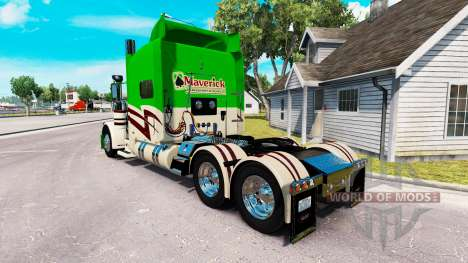 Скин Maverick Transport на Peterbilt 389 für American Truck Simulator