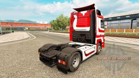 La peau Métallique pour tracteur Mercedes-Benz pour Euro Truck Simulator 2