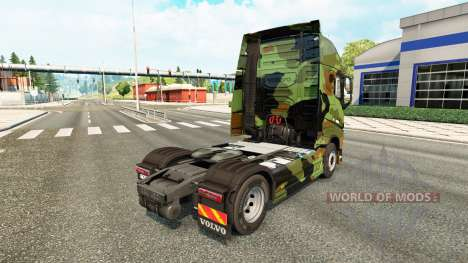 Camo peau pour Volvo camion pour Euro Truck Simulator 2