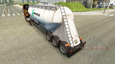 Haut Lafarge Zement semi-trailer für Euro Truck Simulator 2