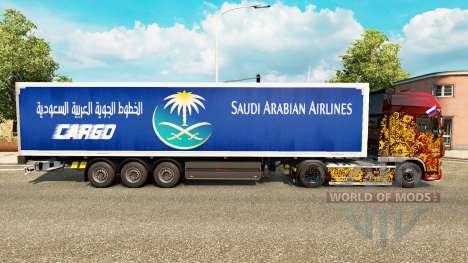 La peau Saudi Arabian Airlines pour remorques pour Euro Truck Simulator 2