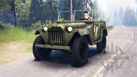Le GAZ-67 1943 pour Spin Tires