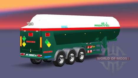 La semi-remorque-citerne Air Produits pour Euro Truck Simulator 2