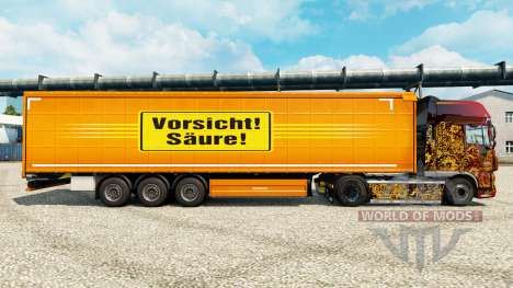 Skin Attention Acides for bande-annonce pour Euro Truck Simulator 2