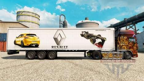 Skin Renault F1 Team v2 auf semi für Euro Truck Simulator 2