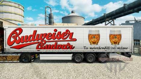 Budweiser peaux pour les remorques pour Euro Truck Simulator 2