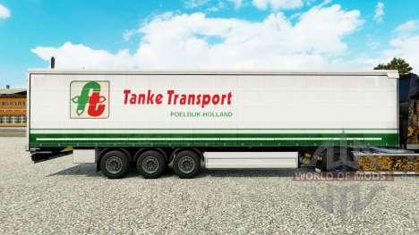 Haut Tanke Transport auf semi-trailer Vorhang für Euro Truck Simulator 2