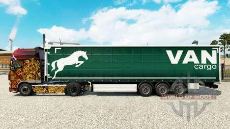 Haut auf einen Vorhang Cargo Van semi-trailer für Euro Truck Simulator 2
