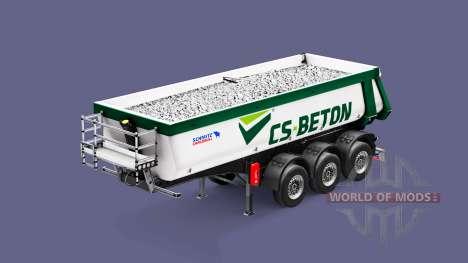 Semi-trailer tipper Schmitz Cargobull CS-BETON für Euro Truck Simulator 2