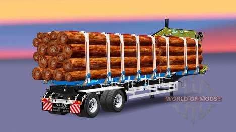 Un camion semi-remorque de cargaison Huttner pour Euro Truck Simulator 2