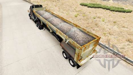 Benne semi-remorque avec de la rouille pour American Truck Simulator