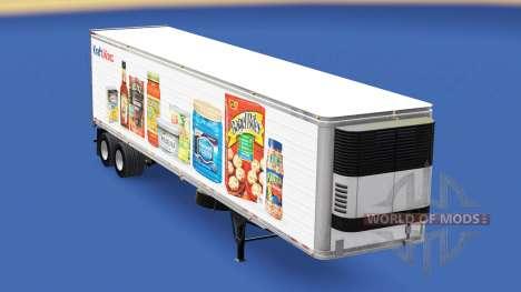 La peau Kraft Heinz sur la remorque pour American Truck Simulator