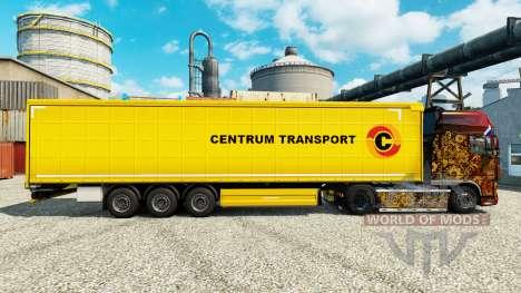 La peau Centrum Transport de semi-remorques pour Euro Truck Simulator 2