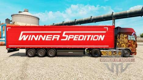 Vainqueur Spedition de la peau pour les remorque pour Euro Truck Simulator 2