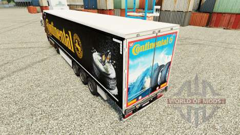La peau Continental pour les semi-remorques pour Euro Truck Simulator 2