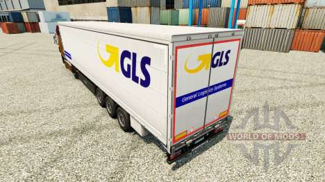La peau GLS pour les remorques pour Euro Truck Simulator 2