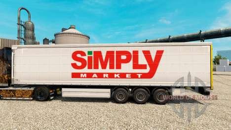 Peau tout Simplement de Marché pour les remorque pour Euro Truck Simulator 2