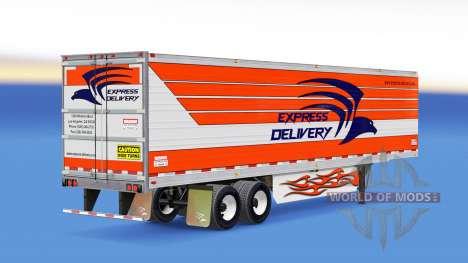 Skin Express-Lieferung für Anhänger für American Truck Simulator