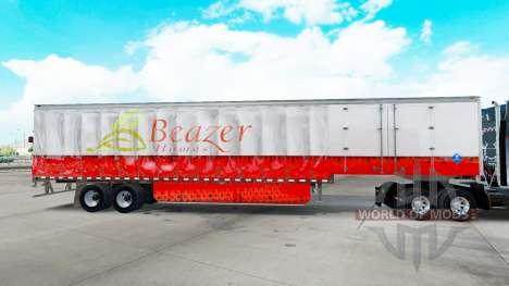 Haut Beazer Homes auf einen Vorhang semi-trailer für American Truck Simulator