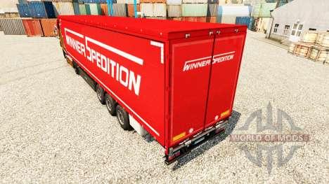 Winner Spedition Haut für Anhänger für Euro Truck Simulator 2