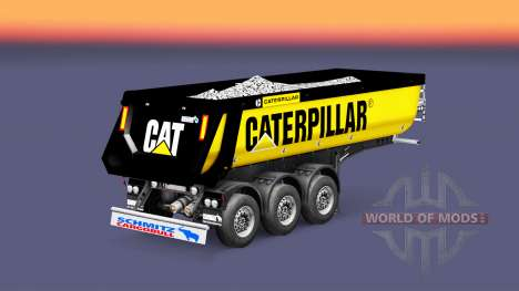 Auflieger Kipper Schmitz Caterpillar für Euro Truck Simulator 2