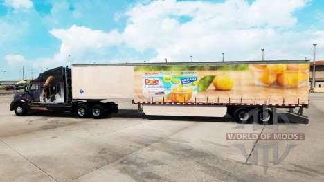 Haut Dole auf einem Vorhang semi-trailer für American Truck Simulator