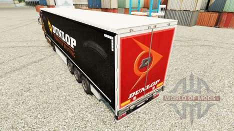 La peau sur Dunlop semi pour Euro Truck Simulator 2