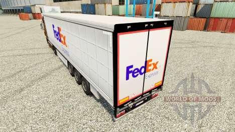 FedEx peau pour les remorques pour Euro Truck Simulator 2