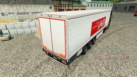 Norbert Dentressangle Haut für Anhänger für Euro Truck Simulator 2